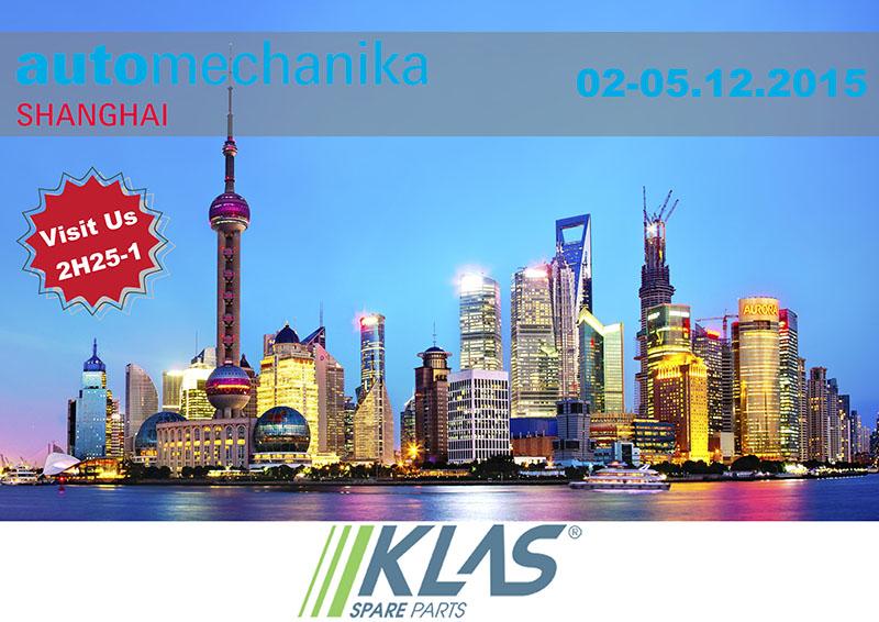 Klas Parts Automechanika Shanghai Exhibitor!